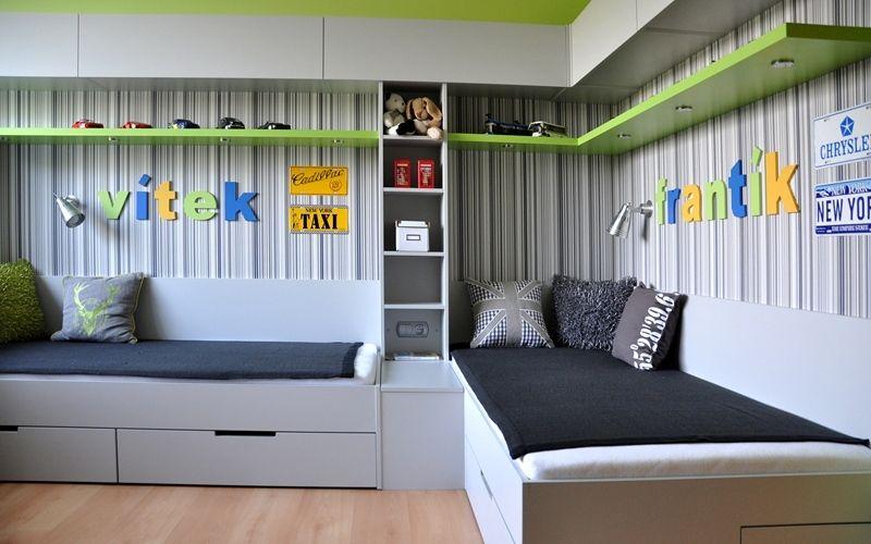 Комната для двух мальчиков. фото интерьеров.