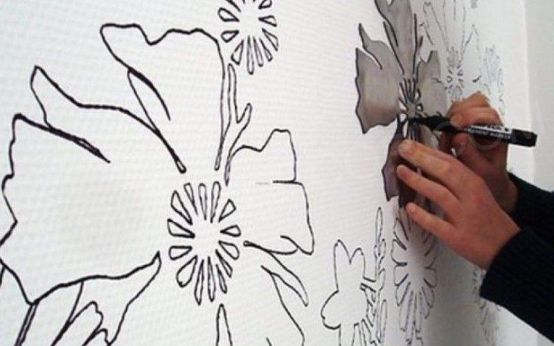Трафаретная техника для декорирования стен