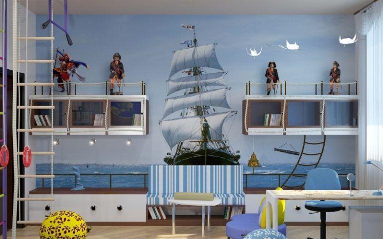 Дизайн комнаты с кораблем
