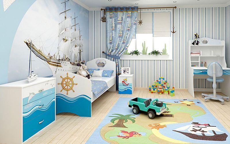 Детская в морском стиле, стиле