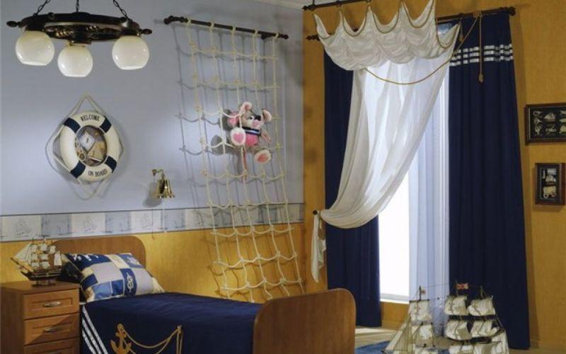 Фото детской комнаты в морском стиле