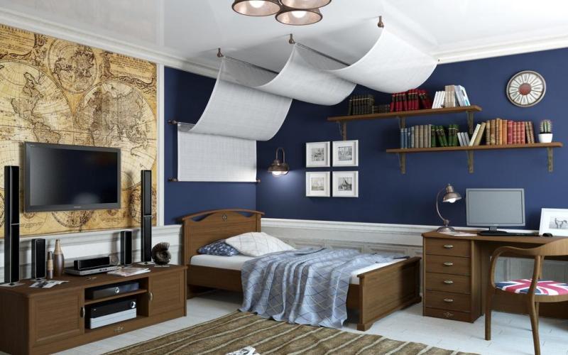 Комната для подростка в морском стиле, фото