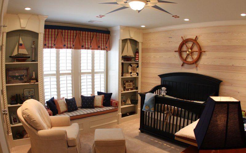 Комната в морском стиле, фото