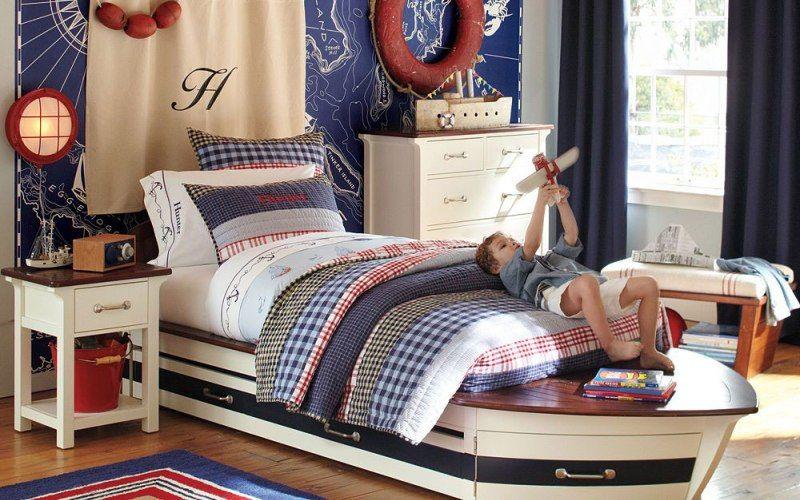 Кровать в форме корабля 0 основная идея этой комнаты