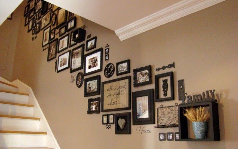 Рядом с фотографиями можно также размещать надписи или пустые рамки