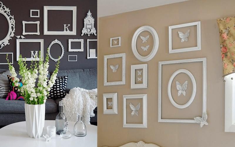 Фоторамки в качестве декора на стене