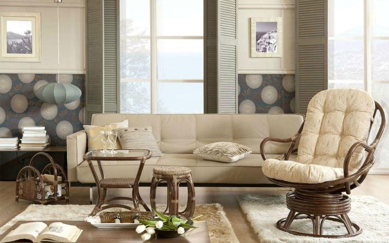 Плетеная мебель в современном интерьере