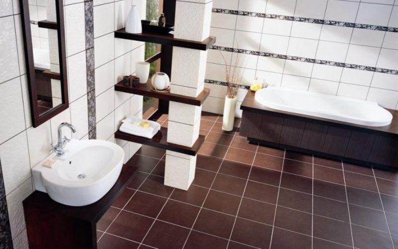 Керамическая плитка и керамогранит в ванной