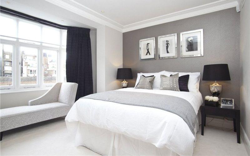 Преимущества серого цвета в спальне