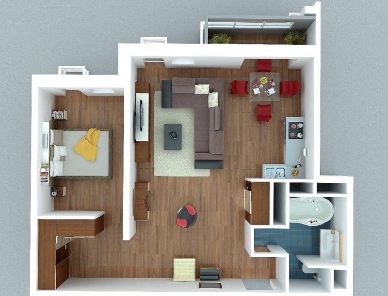 Как спланировать пространство в квартире-студии