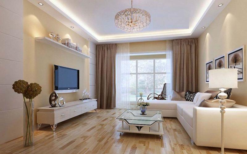 Гостиная в бежевых тонах: цвета, мебель, декор - Бежевый в качестве основы