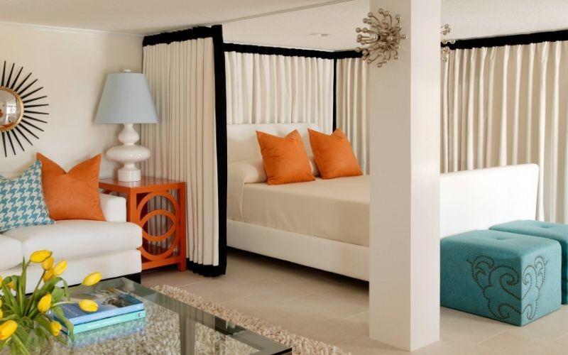 Зонирование комнаты на спальню и гостиную - идеи