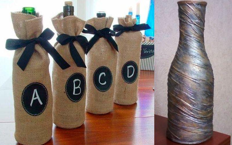 Декорирование вазы тканью