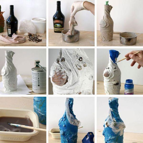 Декорирование вазы тканью - инструкция
