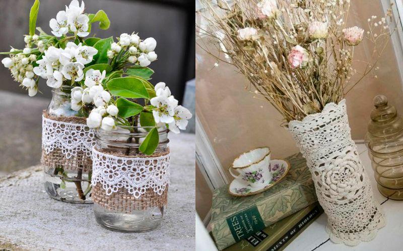 Оформить вазу для цветов своими руками 91