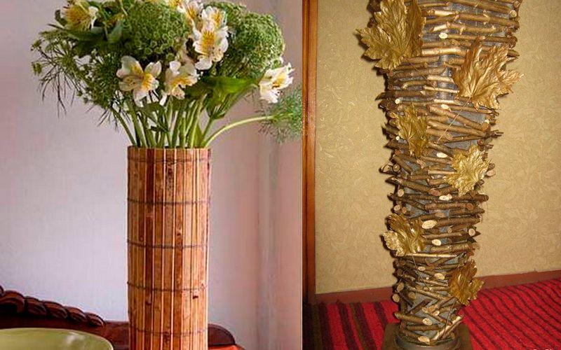 Оформить вазу для цветов своими руками 59
