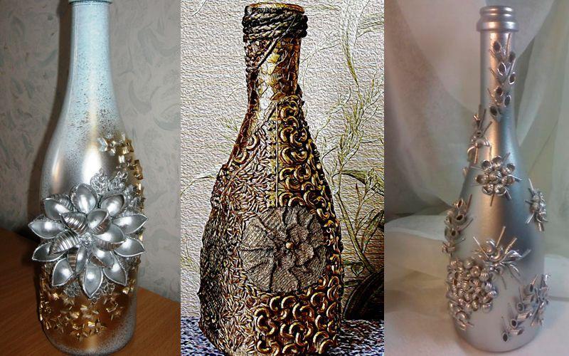 Декорирование вазы макаронами