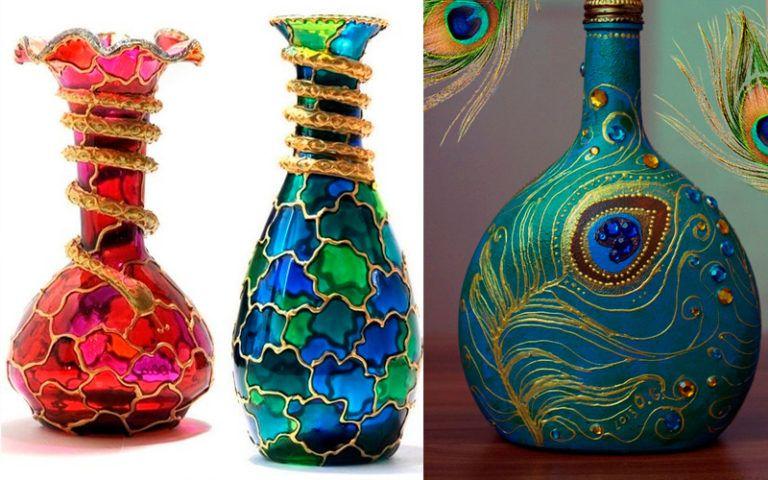 Декоративная ваза своими руками 539