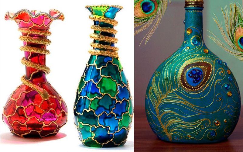 Декорирование вазы с помощью росписи