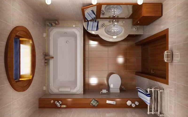 Расстановка мебели в маленькой ванной комнате