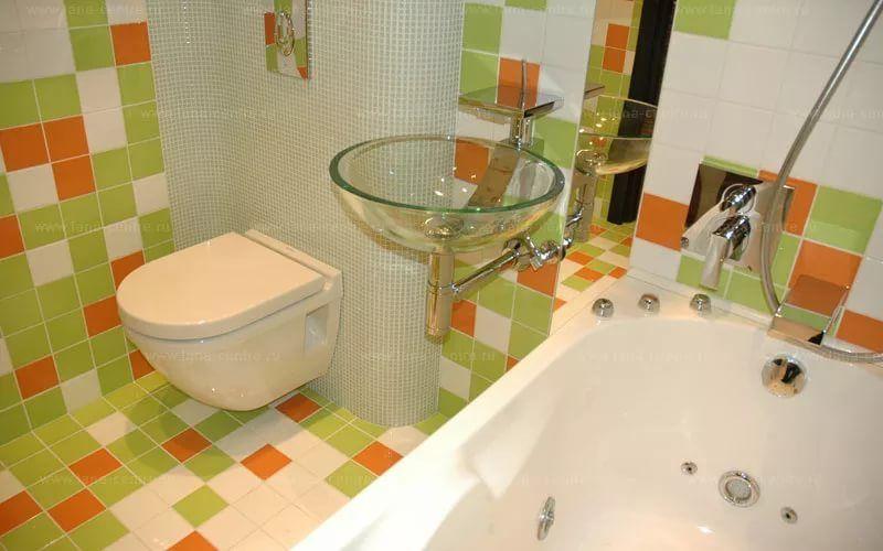 Дизайн ванной комнаты в хрущевке в зеленых тонах