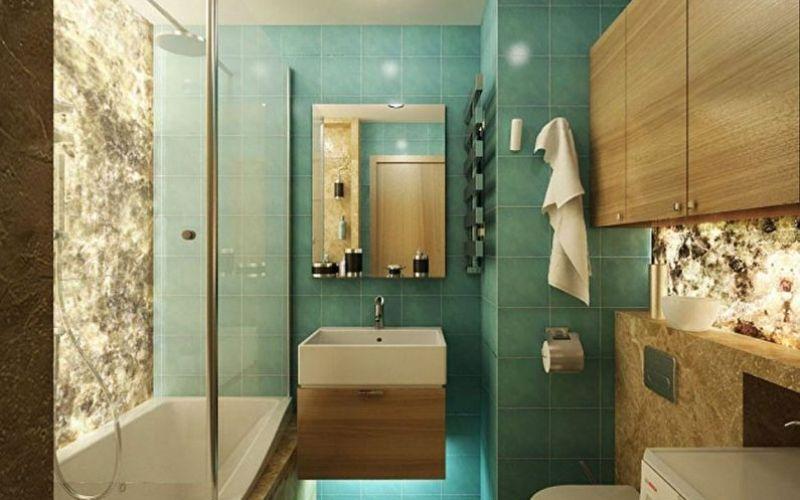 Дизайн ванной комнаты в хрущевке - Освещение в ванной комнате
