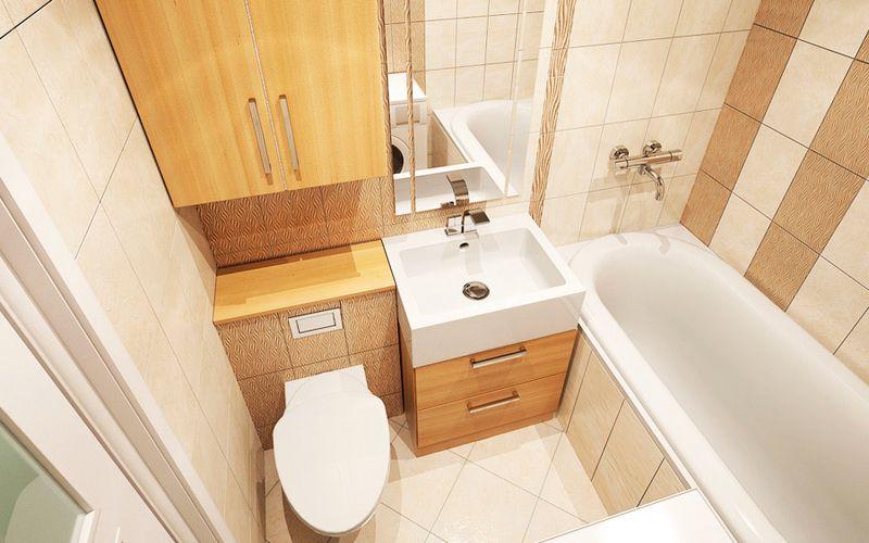 Интерьер ванных комнат в хрущевке