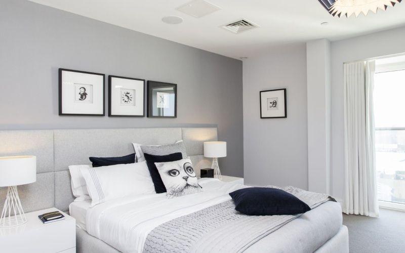 Выбираем цвет для спальни — Серая спальня