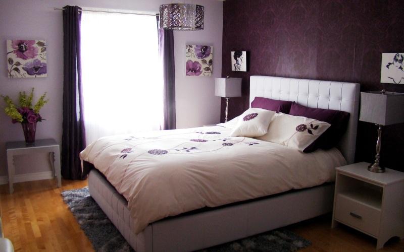 Выбираем цвет для спальни — Фиолетовая спальня