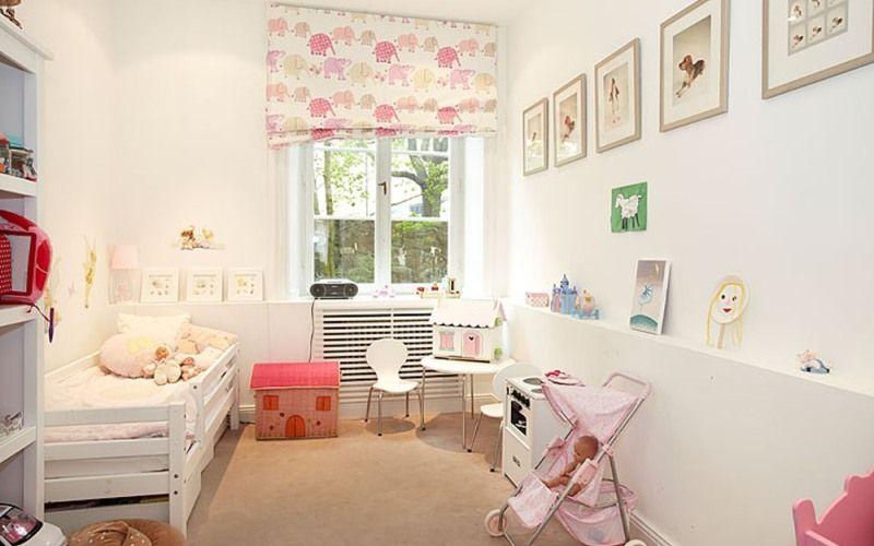 Белая детская комната - Белые стены в детской комнате