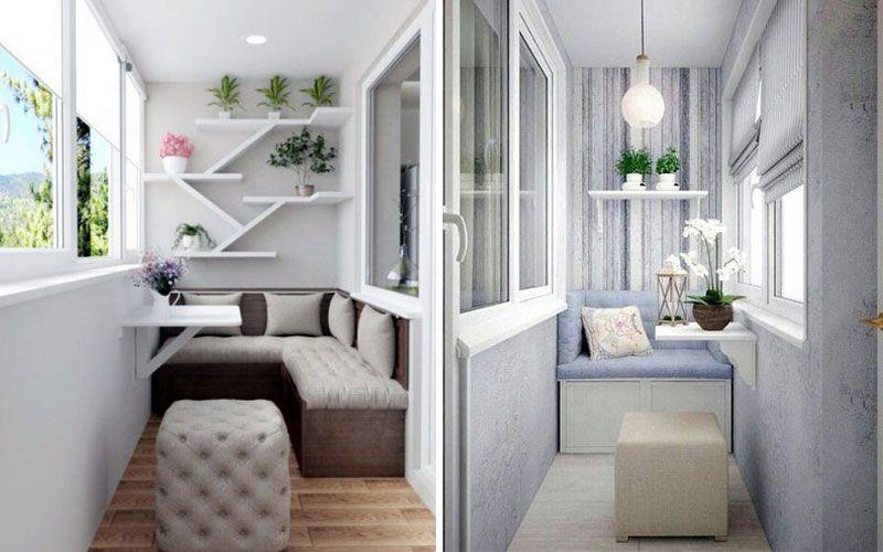 Белый балкон - оформление
