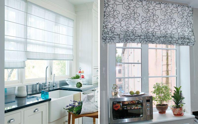 Римские шторы на кухне 2018