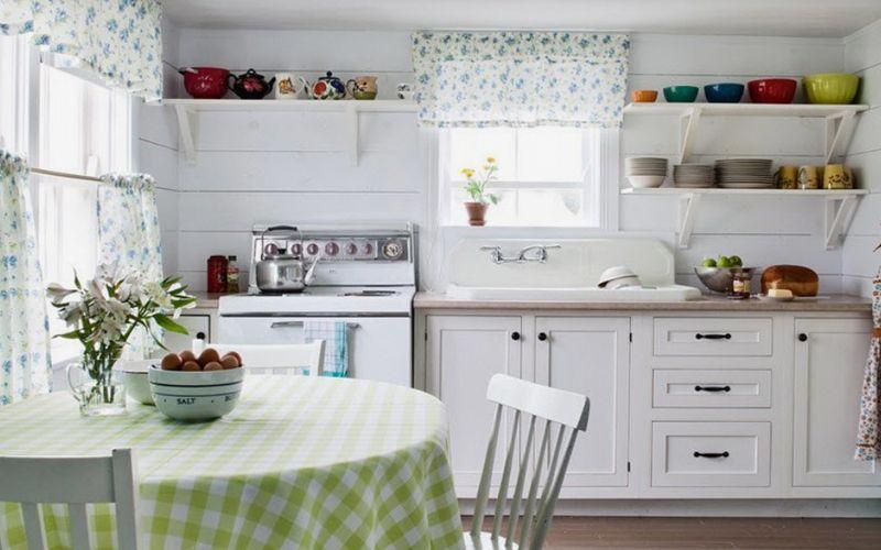 Хлопковые занавески для кухни
