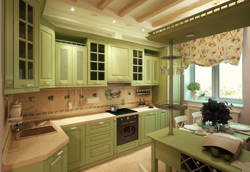 Прованс для угловой кухни