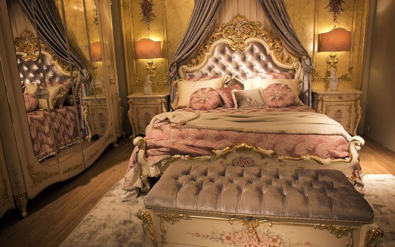 Роскошный викторианский интерьер: особенности дизайна - Спальня