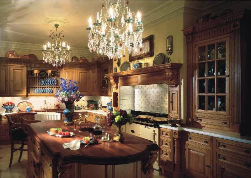 Роскошный викторианский интерьер: особенности дизайна - Кухня