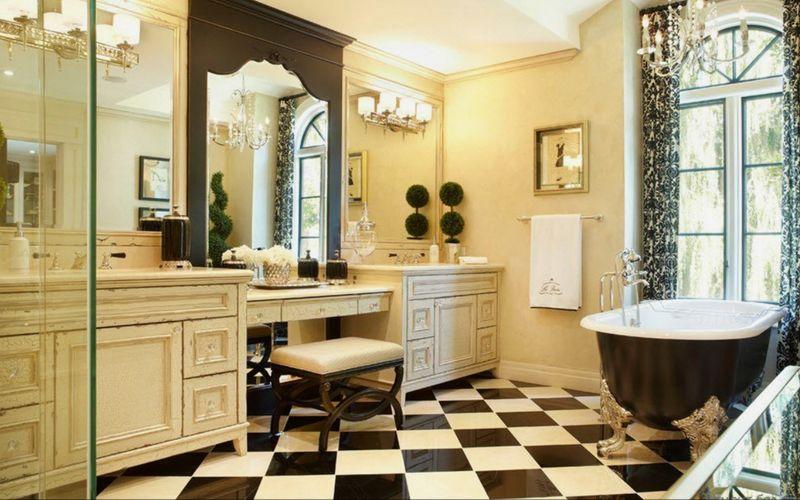 Роскошный викторианский интерьер: особенности дизайна - Ванная