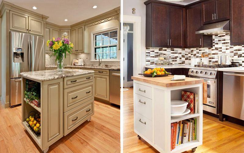 Как разместить кухонный остров на маленькой кухне