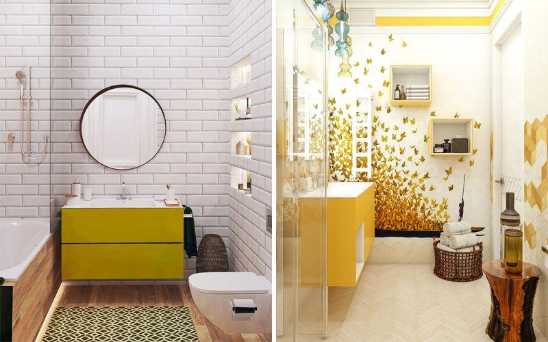 Желтая ванная комната 2018