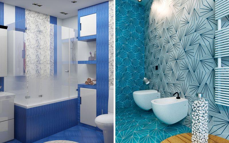 Синяя ванная комната 2018