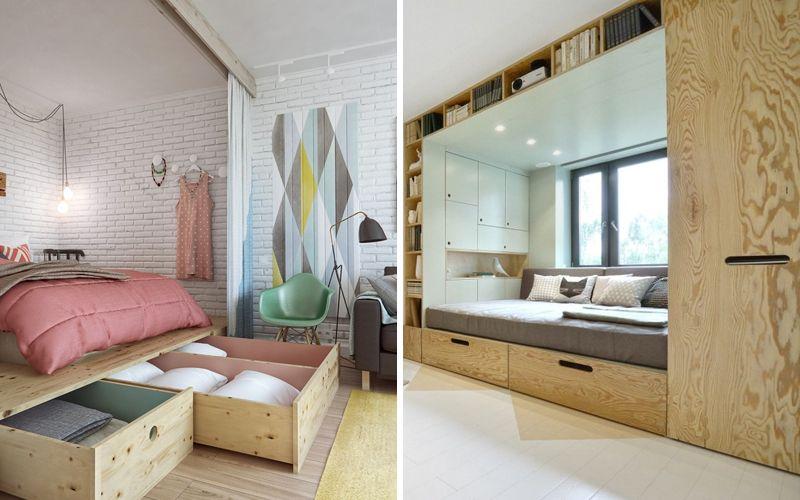 Как зонировать однокомнатную квартиру - Подиум