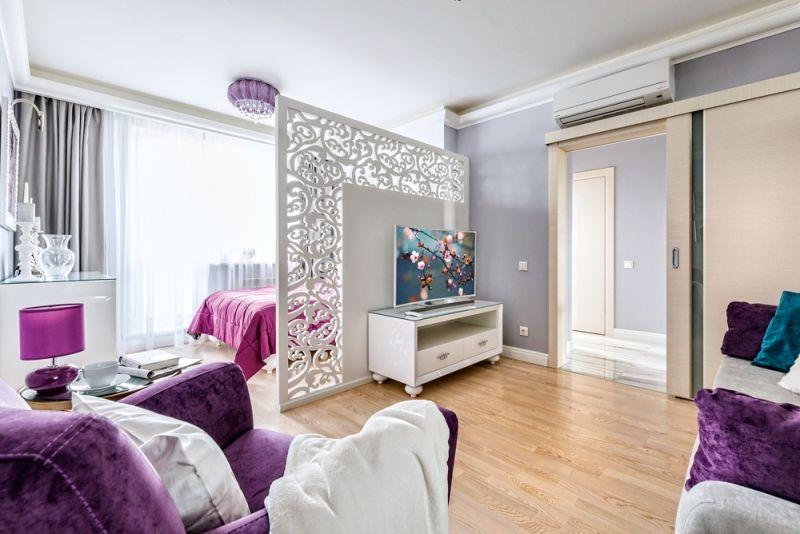 Как зонировать однокомнатную квартиру - Ширма