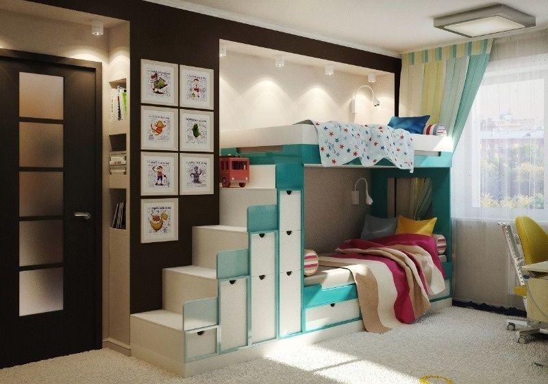 Комната для мальчика и девочки