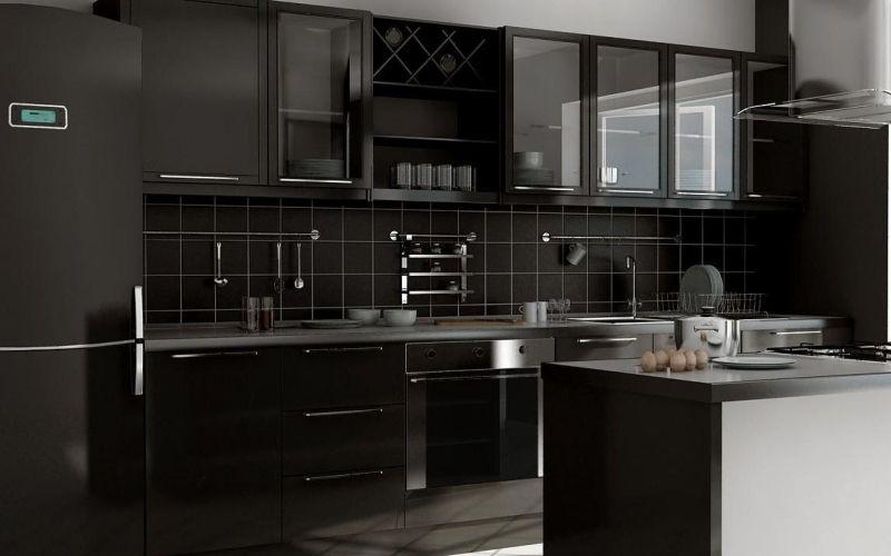 Чёрные кухни: фото