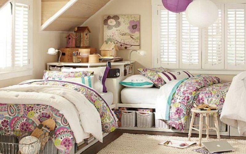 Детская комната для двух девочек - фото интерьеров