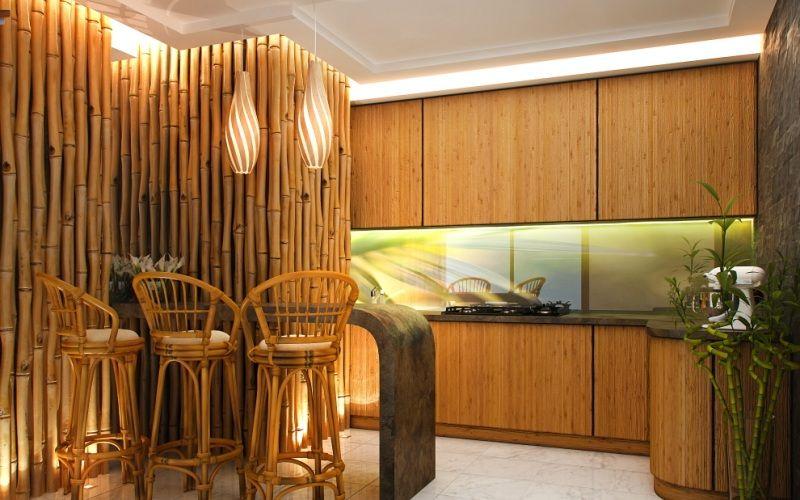 Бамбуковые обои в интерьере, фото