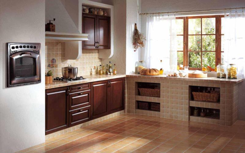 Плитка керамическая на кухне