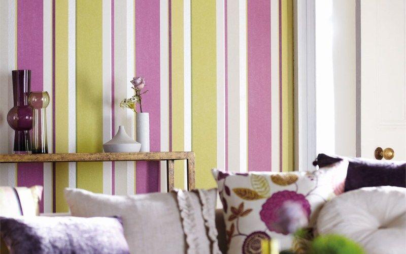 Полосатые стены - как покрасить стены в полоску