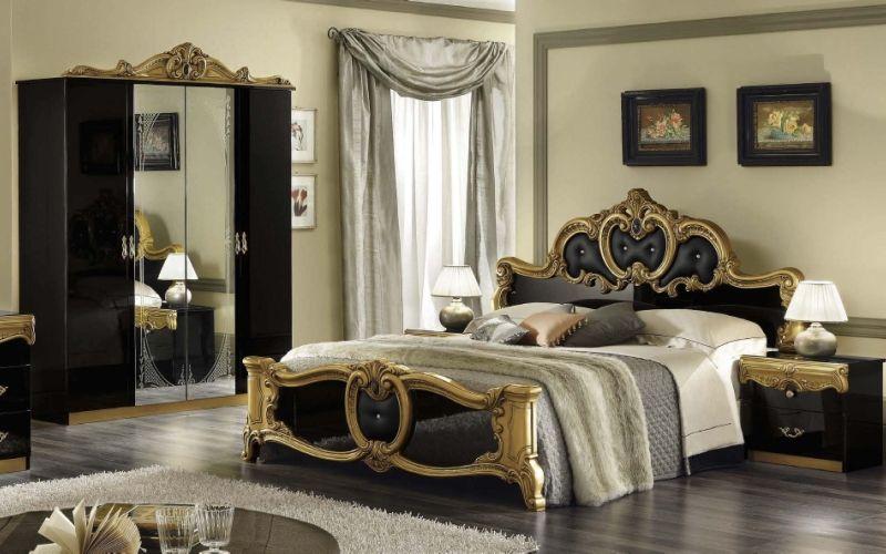 Отделка спальни в стиле барокко