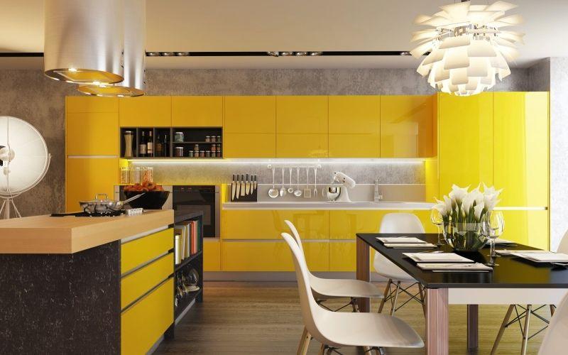 Желтая кухня: как правильно подобрать и использовать цвет на кухне